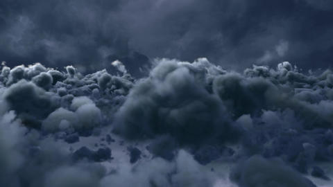 Digital composite of moving clouds Animation
