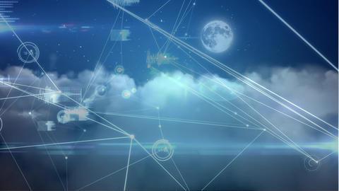 Digital composite of a blockchain technology Animation