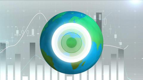 Digital composite of the world economic trend 4k Animation