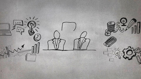 Digital composite of a business meeting Animation