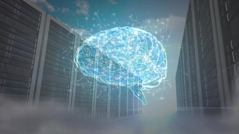 Human brain hologram Animation