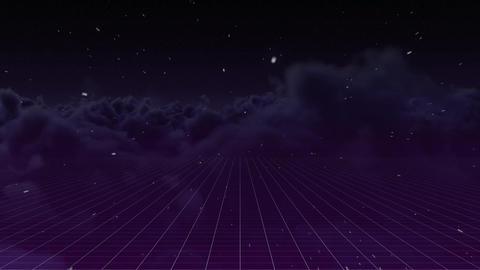 Digital animation of a night sky on a grid Animation
