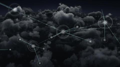 Digital composite of blockchain technology Animation