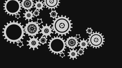 Digital composite of industrial gears Animation