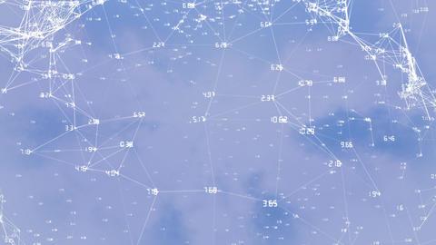Digital composite of the blockchain technology Animation