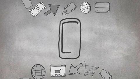 Cellular phone sketch Animation