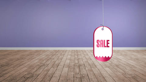 Sale tag in a string Animation