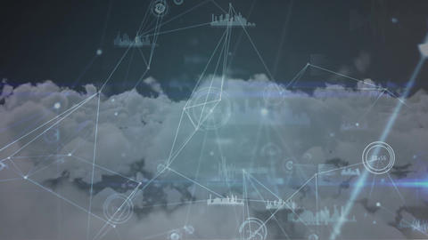Digital art of blockchain loops Animation