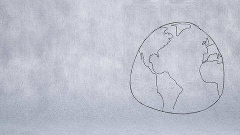 Sketch of globe Animation