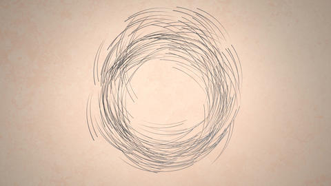 Digital art of lines in circular motion Animation
