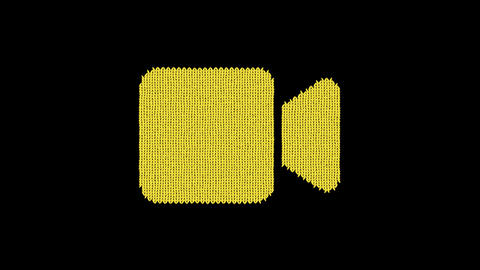 Symbol video is knitted from a woolen thread. Knit like a sweater Animation