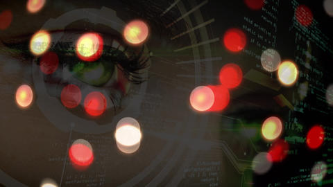 Woman looking at data with bokeh effect Animation