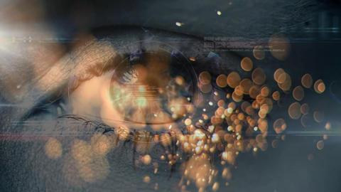 Female eye opening and focusing Animation