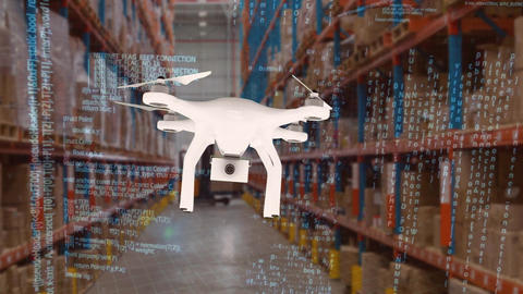 Drone in warehouse Animation