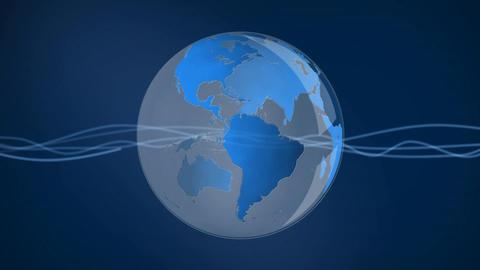 Globe rotating Animation