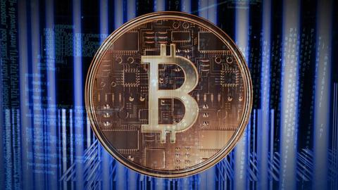 Digital composite of bitcoin technology Animation
