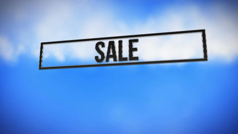 The word sale in a bar Stock Video Footage
