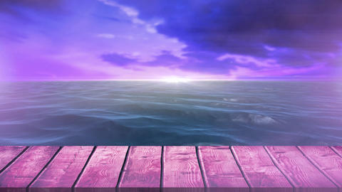 Calm sea during sunset Animation