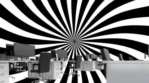 Office with black and white optical illusion Animation
