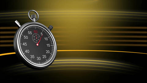 Silver stopwatch Animation