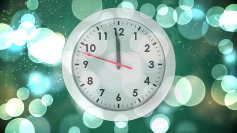 Clock strikes midnight Animation