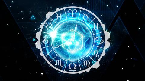 Zodiac sign clock Animation
