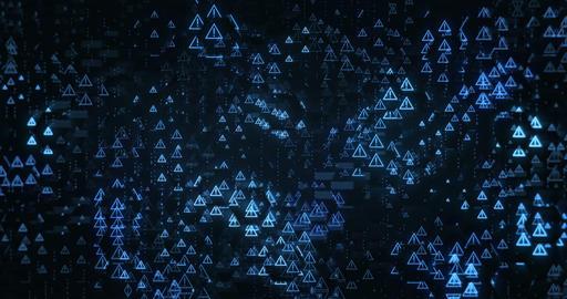 Digital Warning Triangles Videos animados