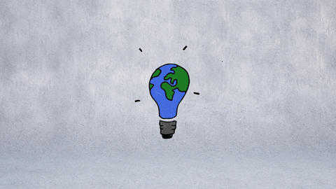 Light bulb globe Animation