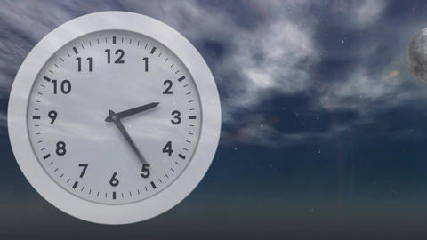 White clock Animation