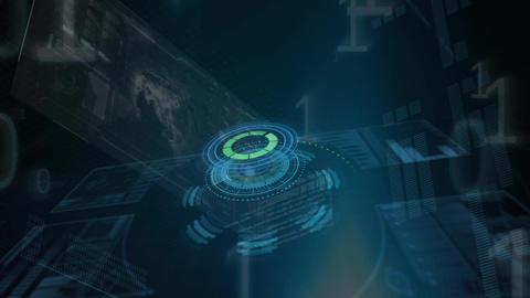 Binary codes, globe, and technology Animation