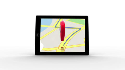 Tablet with map application Animation