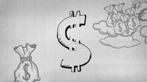 Dollar sign Animation