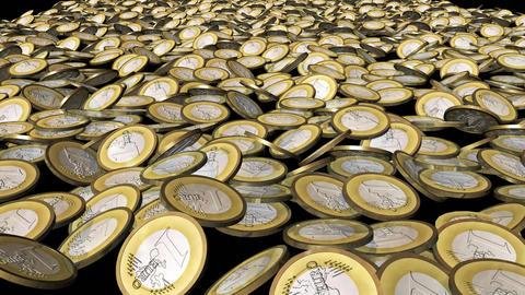 Coins inside a vault Animation