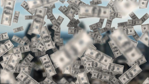 Dollar bills floating Animation