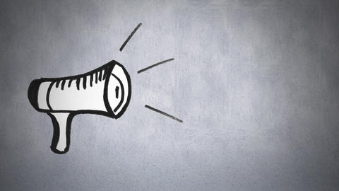Megaphone drawing Animation