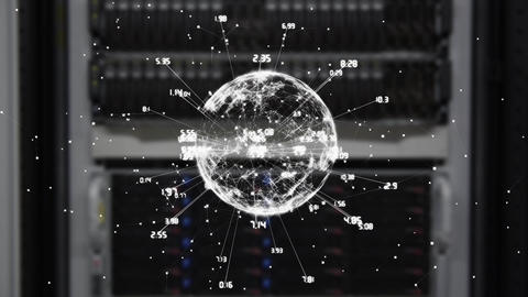 Digital sphere with numbers Animation