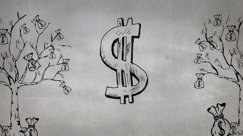 Sketch of dollar sign Animation