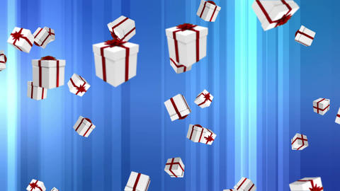 Gift boxes falling Animation