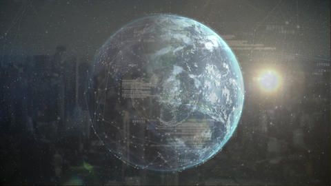 Globe and constellations Animation