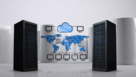 Illustration of cloud storage Animation