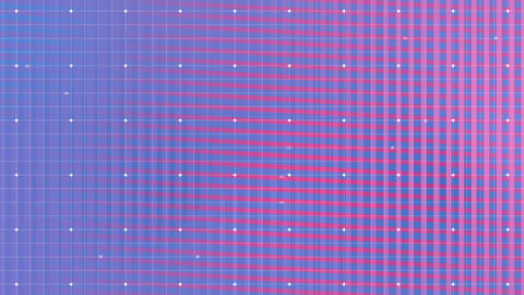 Colorful grid with white dots moving Animation