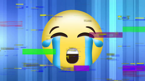 Crying yellow Face emoji Animation