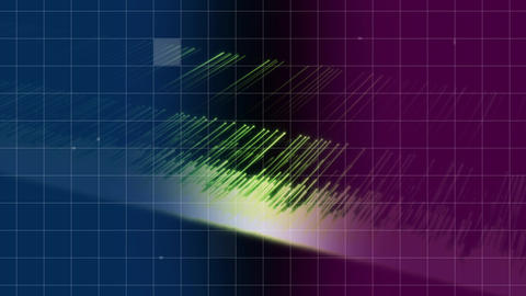 Grid with threads of light Animation
