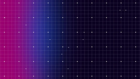 Dots moving on a grid Animation