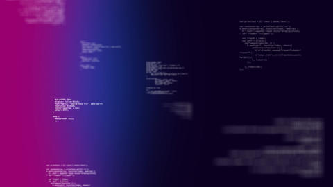 Binary codes moving on pink, purple and dark blue background Animation
