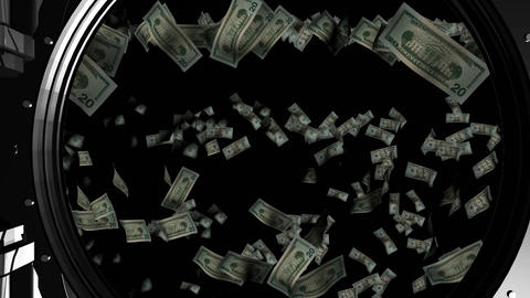 Falling paper bills Animation