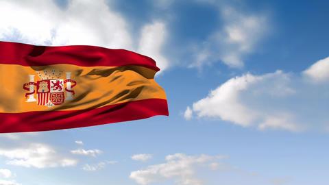 Spanish flag Animation