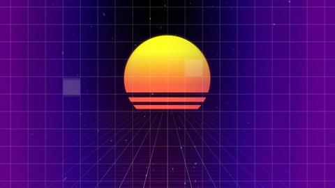 Illustration of a sunset Animation