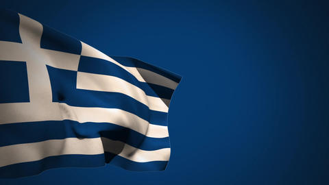 Greece flag waving in the wind Animation