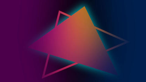 Glowing triangle shape Animation
